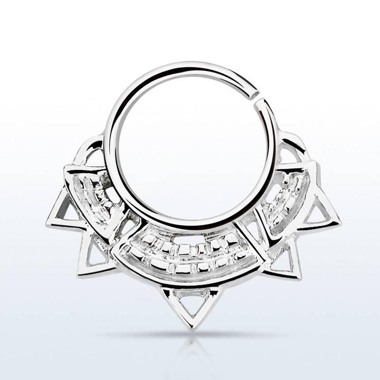 Septum piercing i 925 silver - Engraved Indian Design