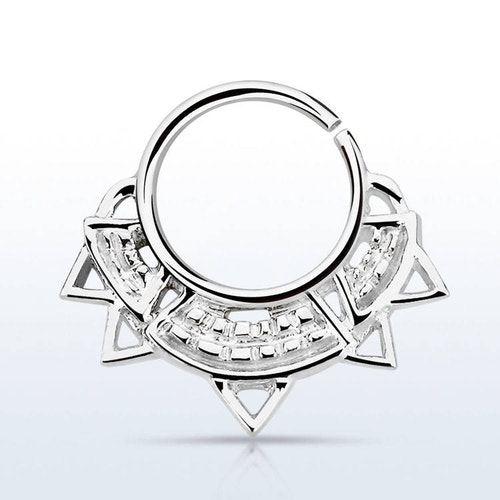 Septum piercing i 925 silver - Engraved Indian Design