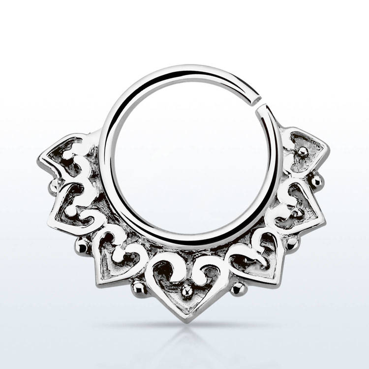 Septum piercing i 925 silver - Engraved Vintage Design