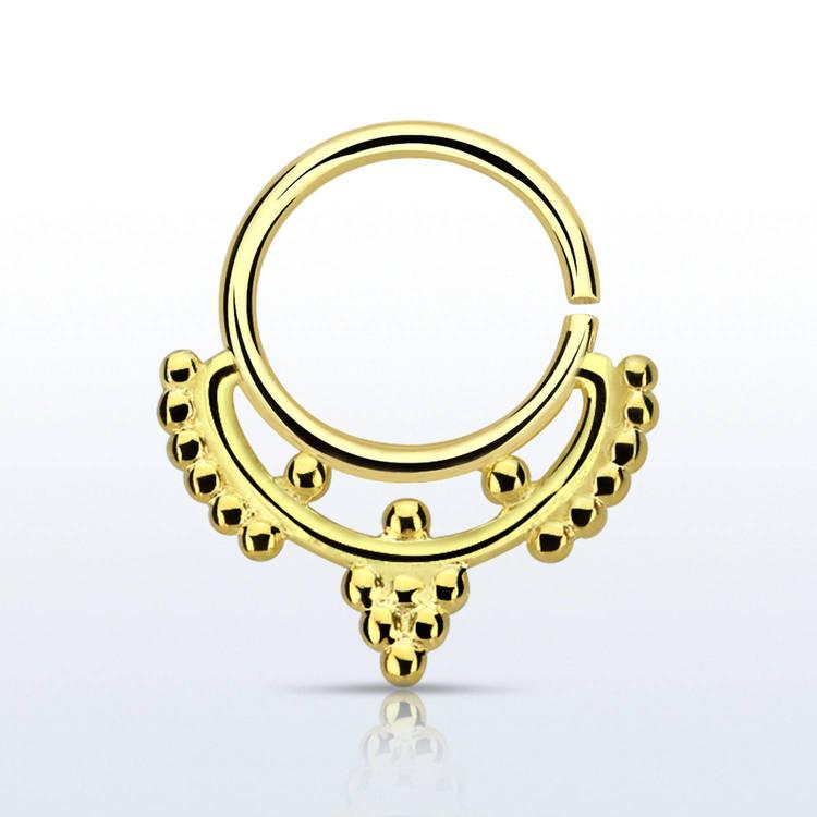 Septum piercing i guldpläterad 925 silver - Mini Indian Design