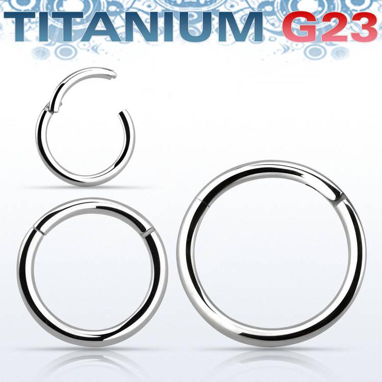 Segmentring 1.2mm i titanium med gångjärn