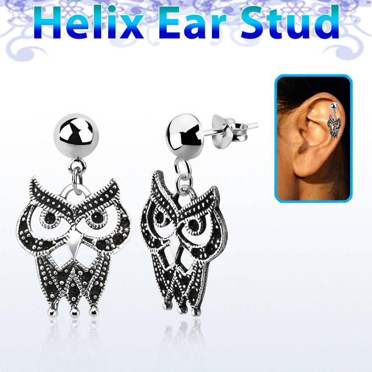 Helix Örhänge - Uggla i 925 Silver