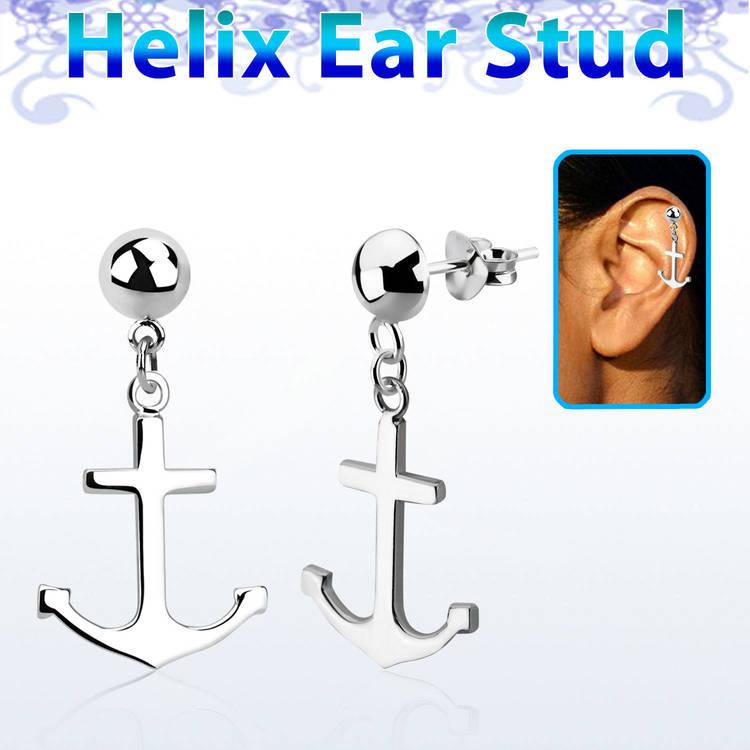 Helix Örhänge - Ankare i 925 Silver