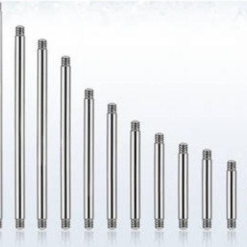 Rak stav i 316L Kirurgiskt stål 1.2mm (lös del)