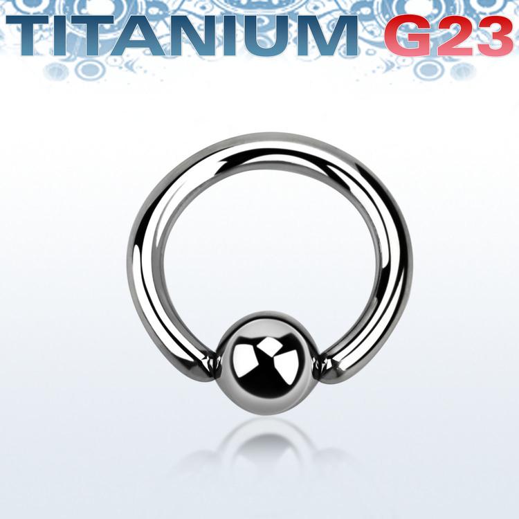BCR Titanium 3mm med 8mm kula