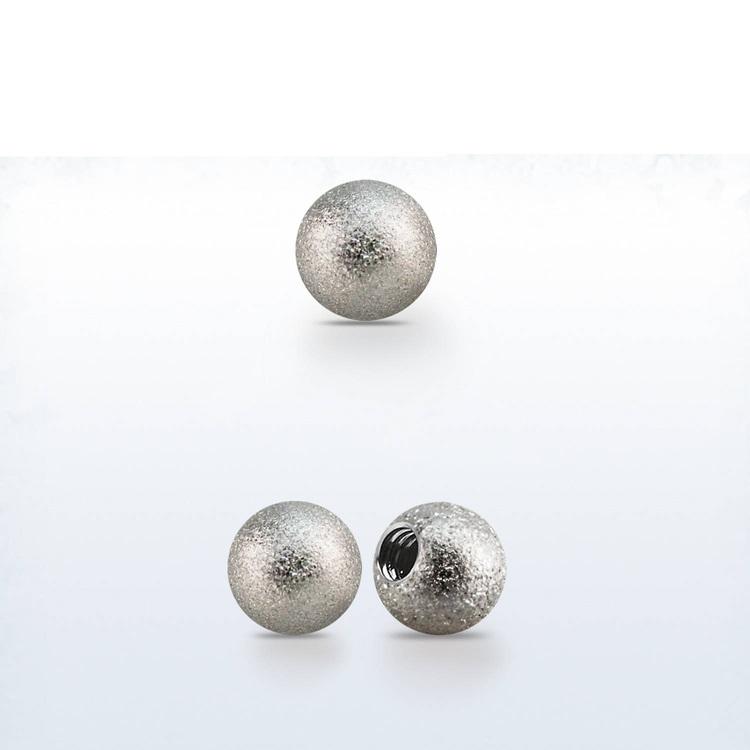 Lös kula frostad 4mm diameter 1.6mm gänga (lös del)