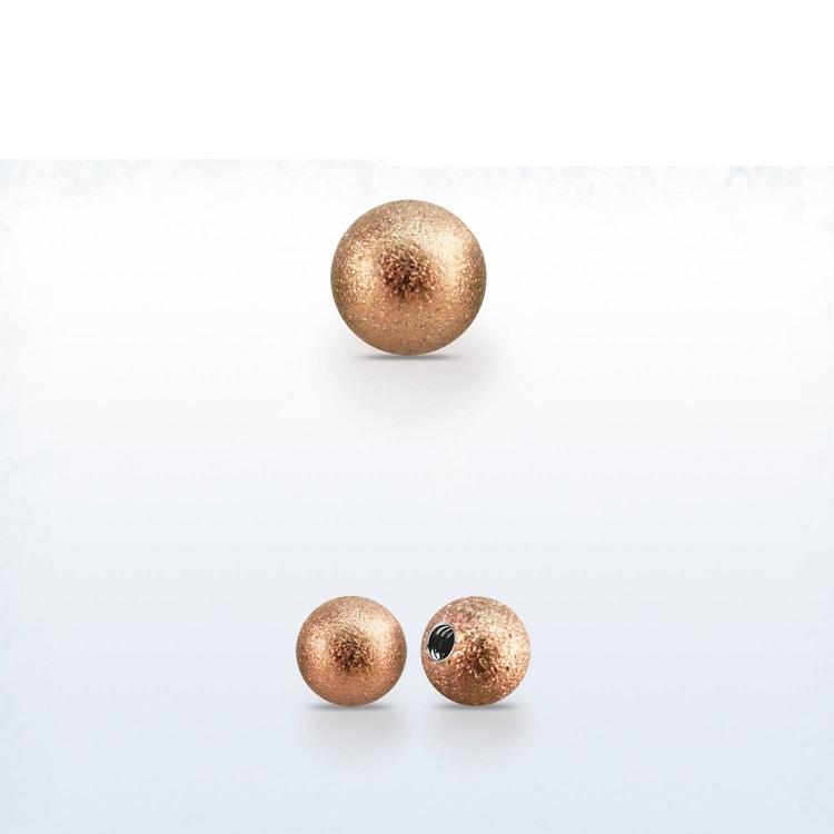 Lös kula frostad roséguld 3mm med 1.2mm gänga (lös del)