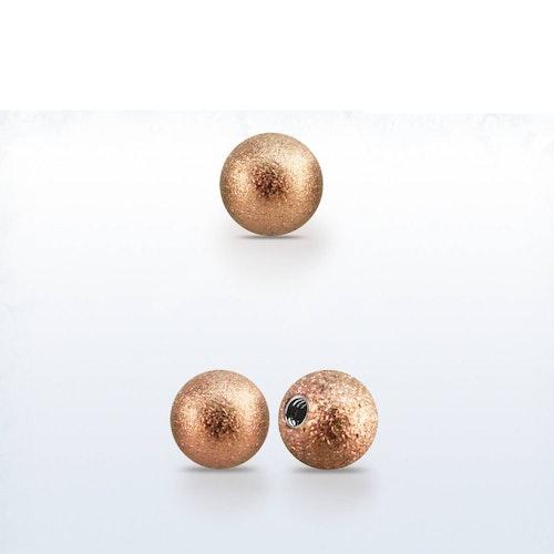 Lös kula frostad roséguld 4mm med 1.2mm gänga (lös del)