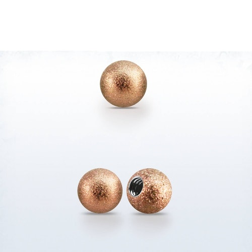 Lös kula frostad roséguld 4mm med 1.6mm gänga (lös del)