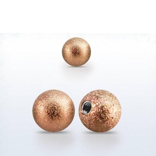 Lös kula frostad roséguld 6mm med 1.6mm gänga (lös del)