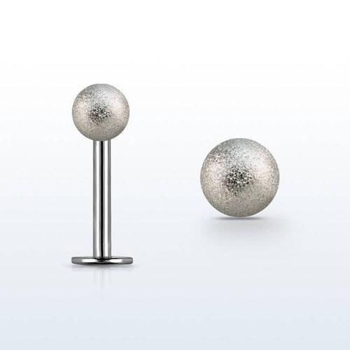 Labret / Monroe 1.2mm med 3mm frostad kula