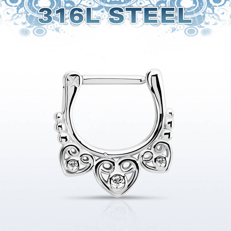 Septum Clicker - Celtic Design med crystals