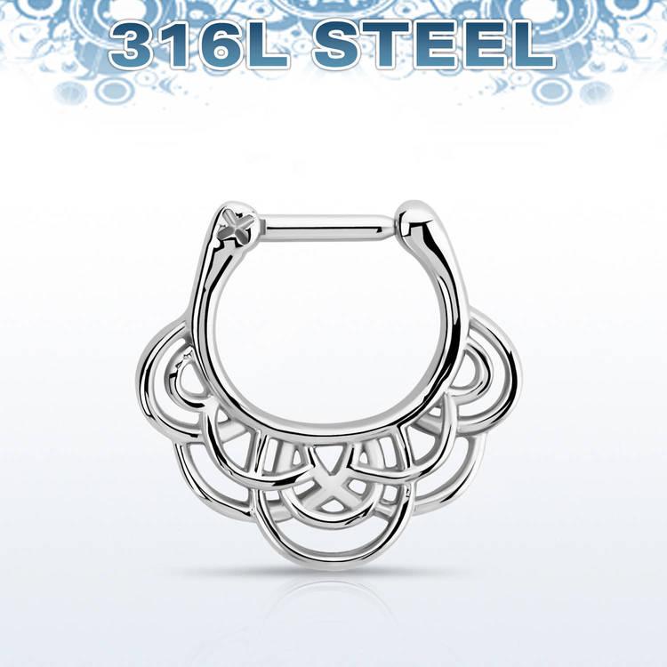 Septum Clicker - Vävd Celtic Design