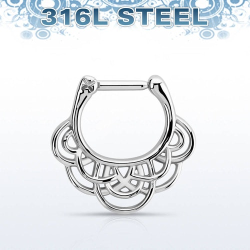 Septum Clicker - Vävd Celtic Design