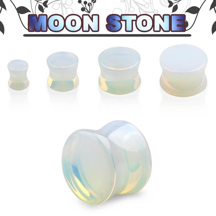 """Stenplugg """"moon stone"""" opalit"""