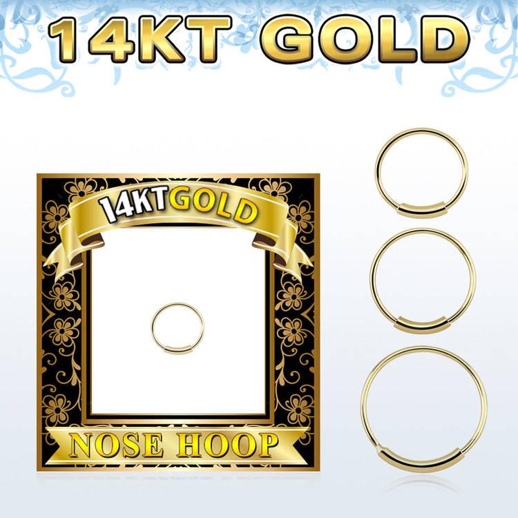 Näsring / nose hoop ring 0.6mm 14 karat guld