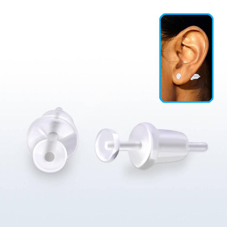 Örhänge / Retainer akryl och silikon (par)