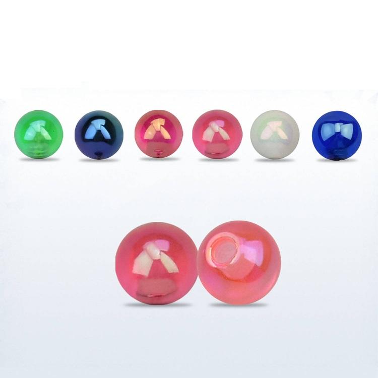 Akrylkula / pärlboll 3mm med 1.2mm gäng (lös del)