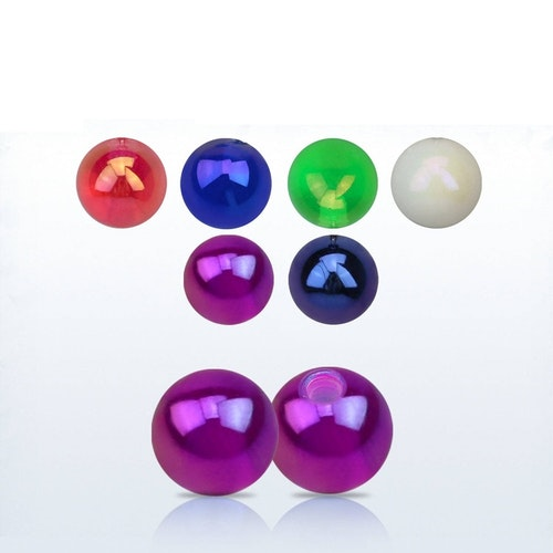 Akrylkula / pärlboll 5mm med 1.6mm gäng (lös del)