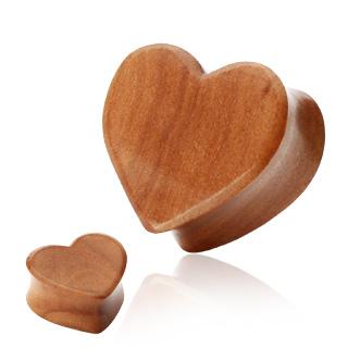 Cherry Wood - Hjärtformad träplugg