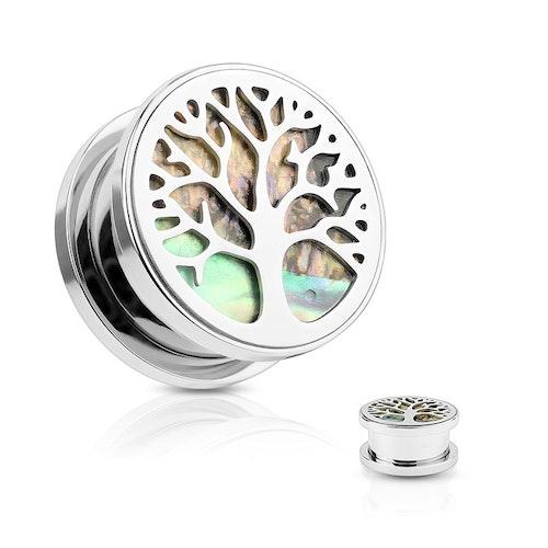 Plugg med pärlemor och Tree of Life