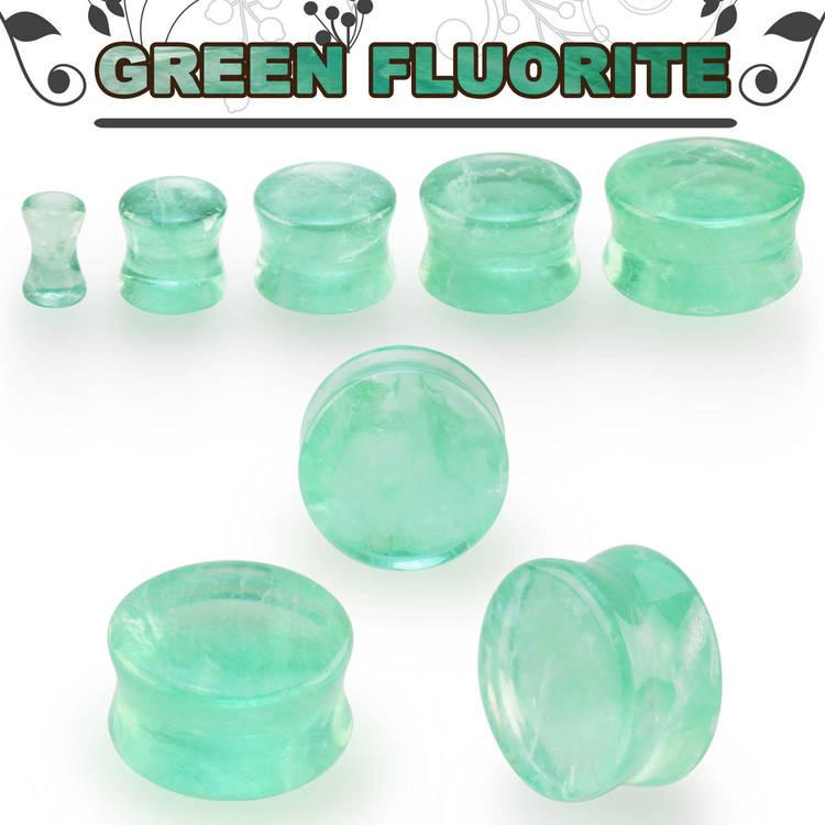 Stenplugg grön fluorit