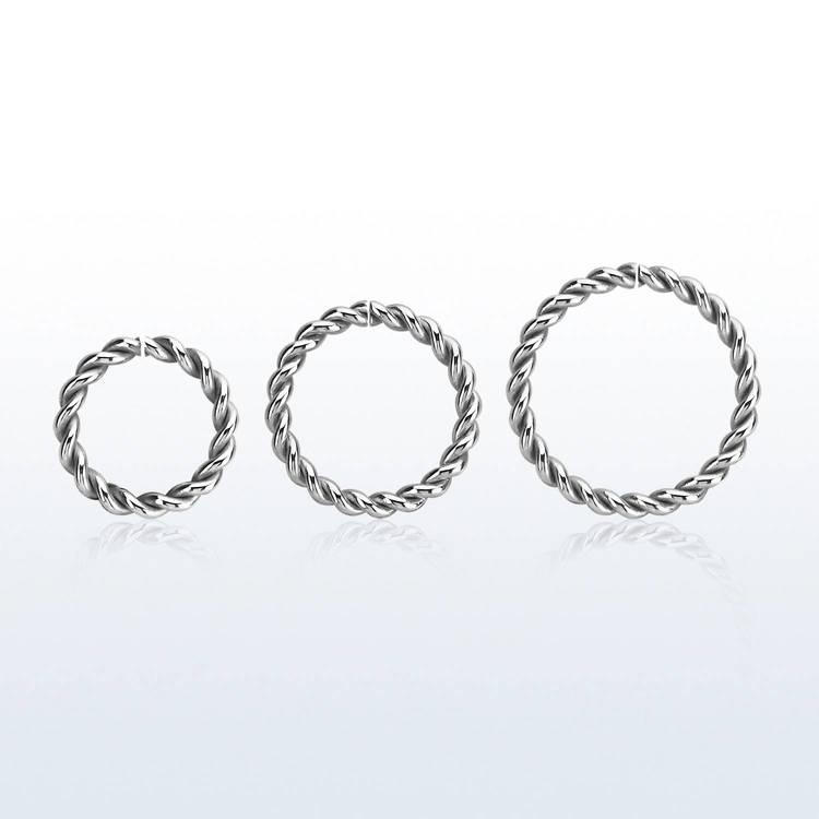 Sömlös ring twistad design 1.2mm