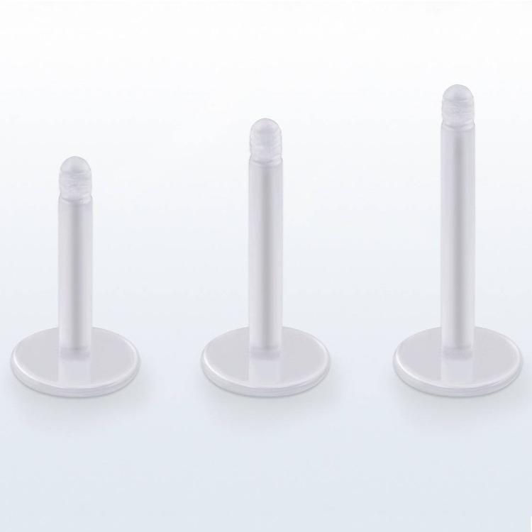 Labret / Monroe 1.2mm i klar akrylplast (lös del)