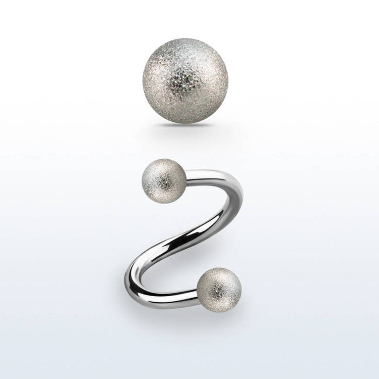Twister 1.2mm med 5mm frostade kulor