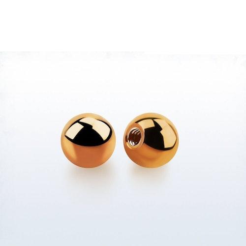 Lös kula PVD-Pläterad roséguld 5mm diameter 1.6mm gänga (lös del)