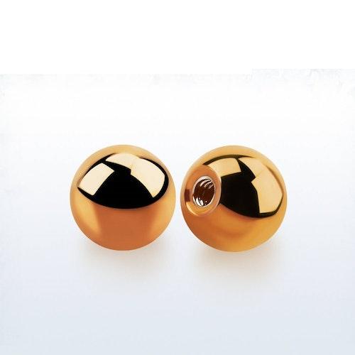 Lös kula PVD-Pläterad roséguld 8mm diameter 1.6mm gänga (lös del)