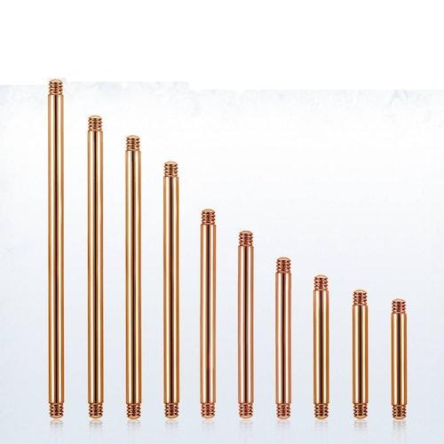 Lös stav / barbell PVD-Pläterad roséguld 1.6mm (lös del)