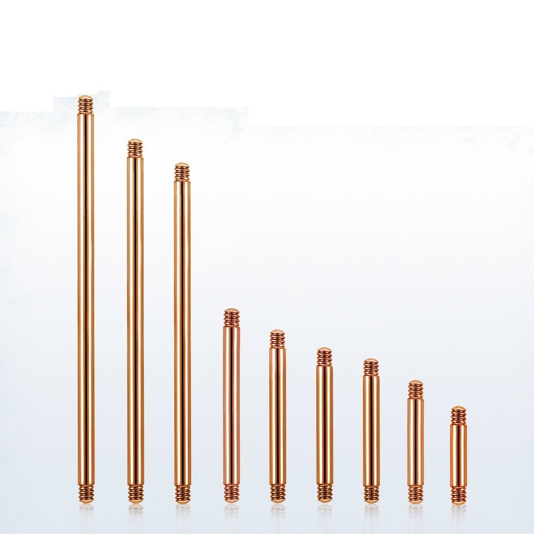 Lös stav / barbell PVD-Pläterad roséguld 1.2mm (lös del)