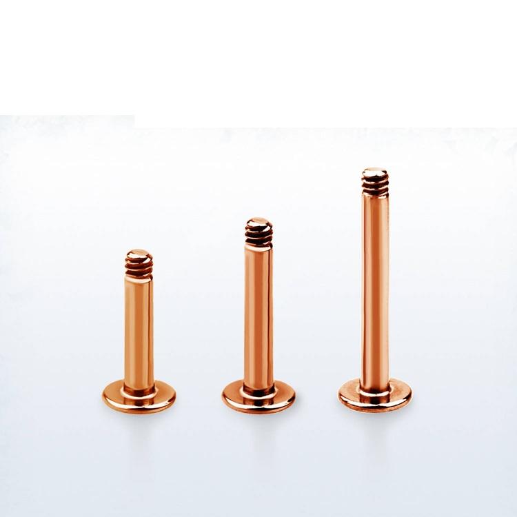 Lös labret PVD-Pläterad roséguld 1.6mm (lös del)
