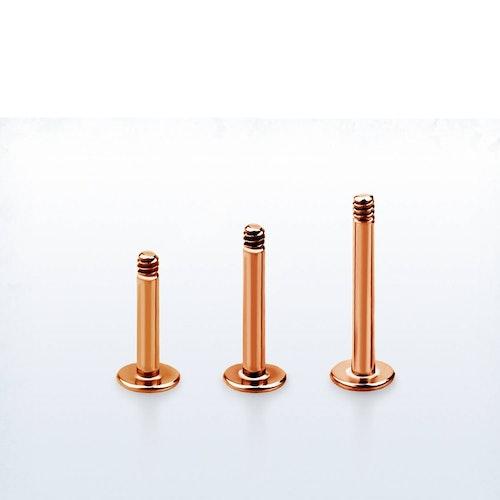 Lös labret PVD-Pläterad roséguld 1.2mm (lös del)