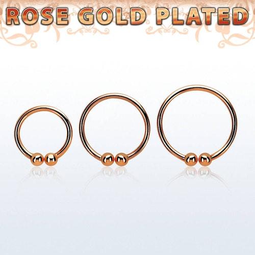 """Ring i roséguldpläterad 925 Silver """"Fake-Clip"""""""