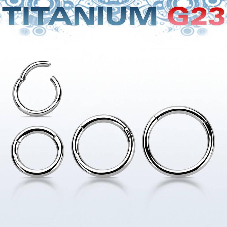 Segmentring i titanium med gångjärn 1.6mm