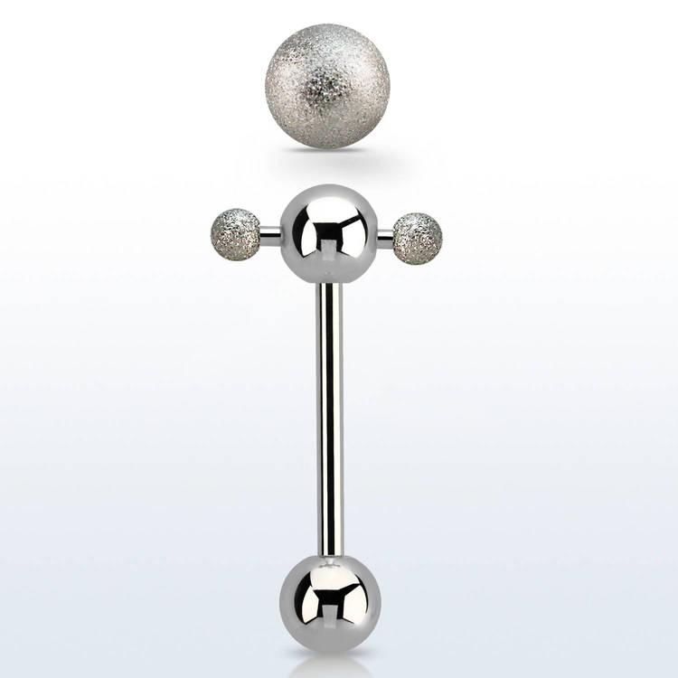 Barbell / Tungstav - Spinnerbarbell med frostade kulor