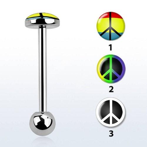 Barbell / Tungstav med platt topp (peace logo)
