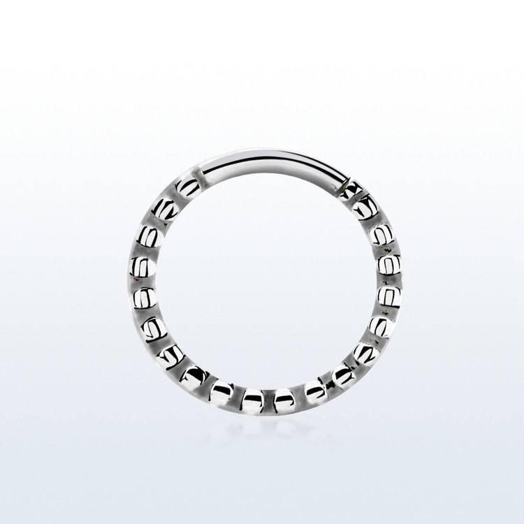 Septumpiercing 1.2mm ring med små hack