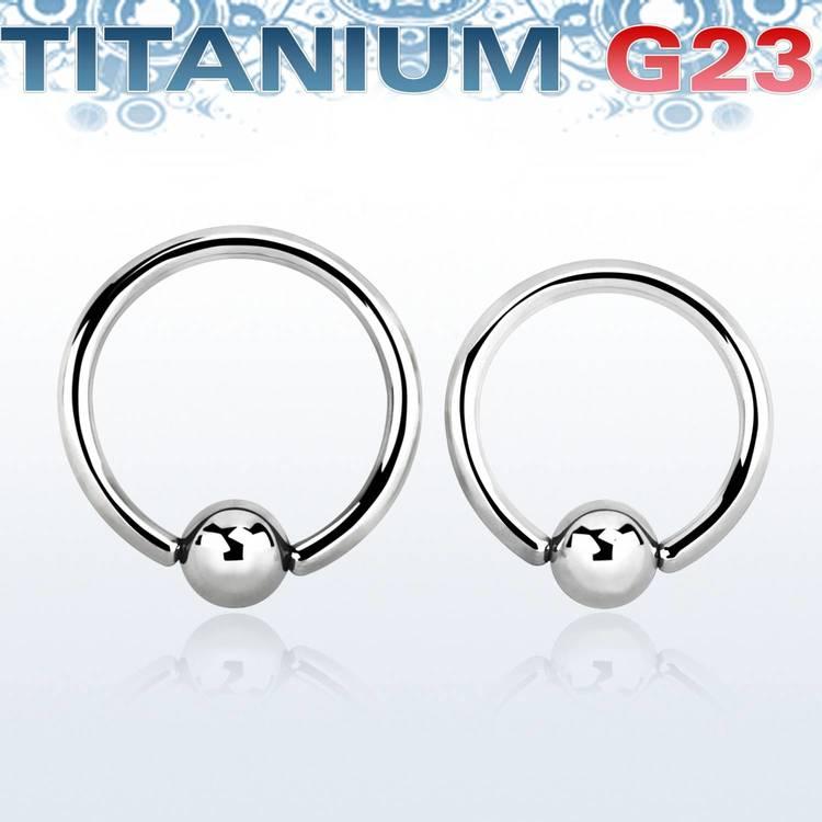 Titanium BCR 2mm med 6mm kula