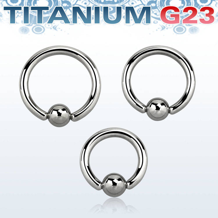 Titanium BCR 2.5mm med 6mm kula