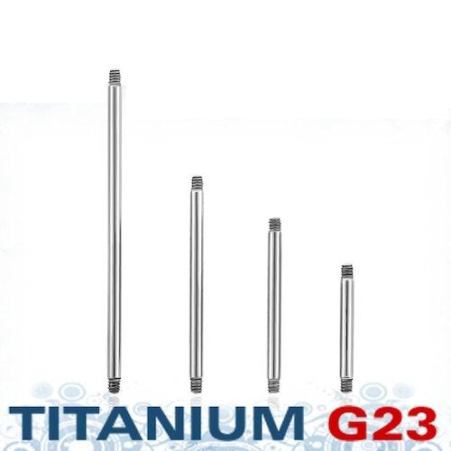 Titanium barbell 1.2mm (lös del)