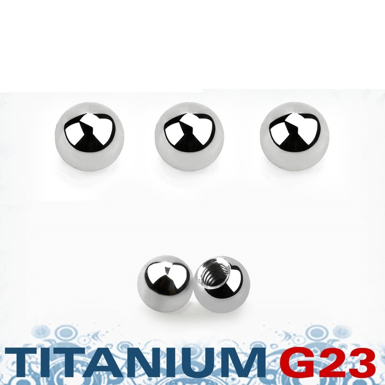 Titanium kula 2.5mm med 1.2mm gäng (lös del)