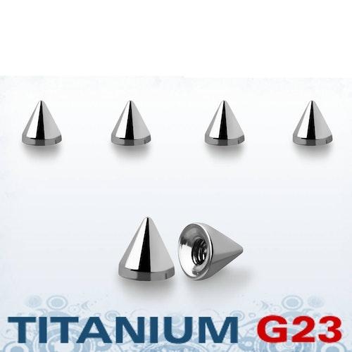 Titanium kon 2.5mm med 1.2mm gäng (lös del)