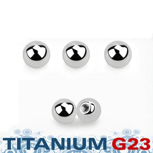 Titanium kula 3mm med 1.2mm gäng (lös del)