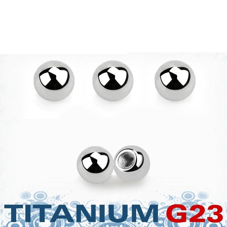 Titanium kula 3mm med 1.6mm gäng (lös del)