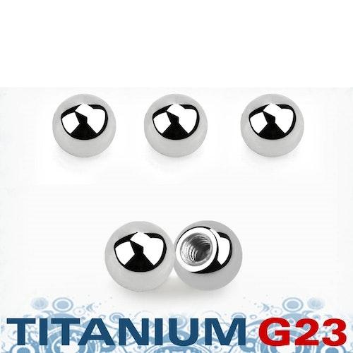 Titanium kula 4mm med 1.6mm gäng (lös del)