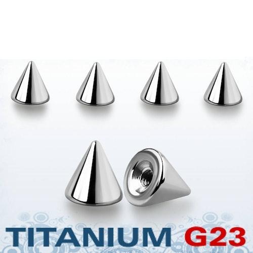 Titanium kon 4mm med 1.2mm gäng (lös del)
