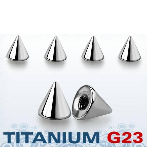 Titanium kon 4mm med 1.6mm gäng (lös del)